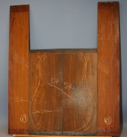 Cocobolo guitar back and sides set no 57