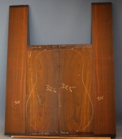 Cocobolo guitar back and sides set no 325