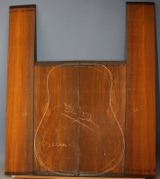 Cocobolo guitar back and sides set no 52
