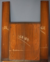 Cocobolo guitar back and sides set no 168
