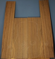 American black walnut guitar back and sides set number 68