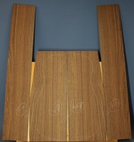 American black walnut guitar back and sides set number 49