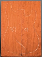 Bubinga guitar top type 'B'