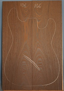 Wenge guitar top number 106 type 'B'