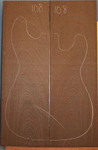 Wenge guitar top number 108 type 'B'