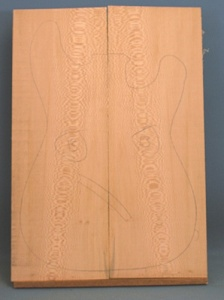Lacewood guitar top number 13 type 'B'