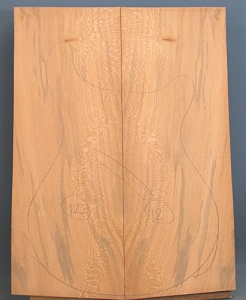 Lacewood guitar top number 12 type 'A'