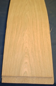 European oak veneer crown cut.