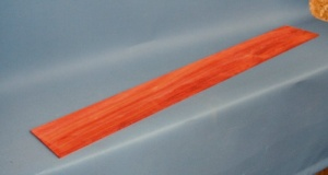 Neck lamination piece 800 x 110 x 2mm padauk