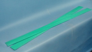 Dyed blue green constructional banding veneer 800 x 50 x 0.6mm