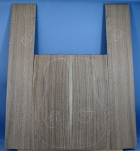 American black walnut guitar back and sides set