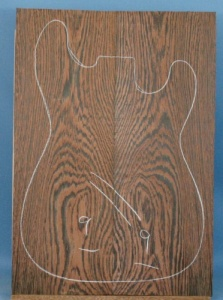 Wenge guitar top type 'B'