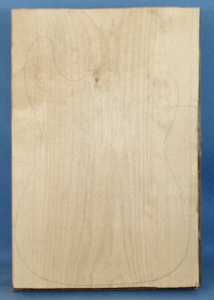 Black limba heart sap single piece body blank standard grade