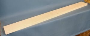 Sycamore guitar neck blank type A