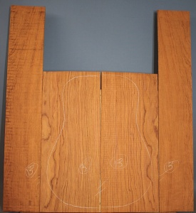 Bubinga guitar back and sides set no 13