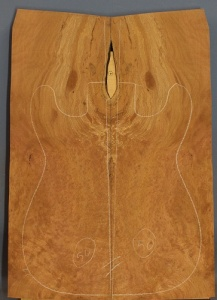 Planetree burr guitar top number 50 type 'B'