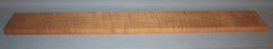 Torrified curly maple bass neck blank type FB medium figure number 115