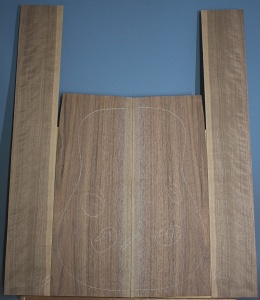 American black walnut guitar back and sides set number 59