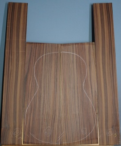 Indian rosewood guitar back and sides CAAA* number 80