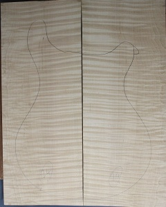 Curly maple guitar top number 24 type 'A'  highest figure