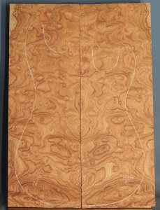 Quilted bubinga guitar top number 206 type 'B'