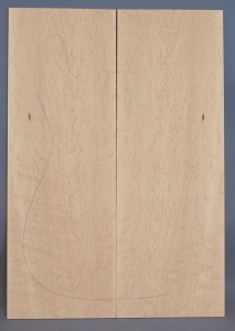 Birds eye maple guitar top number 3 type 'B' strong figure