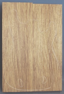 Black limba heart sap two piece body select grade no 1