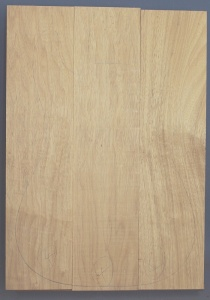 White limba three piece body blank no 4