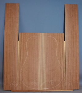 American black walnut guitar back and sides set number 70