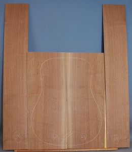 American black walnut guitar back and sides set number 69