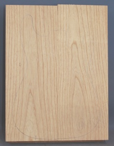 Swamp ash two piece body blank no 10