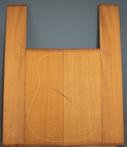 Honduras mahogany guitar back and sides set WAAA*