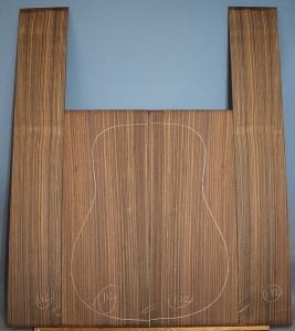 Indian rosewood guitar back and sides WAAA** no 112