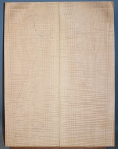 Curly maple guitar top number 242  type 'B'  strong figure