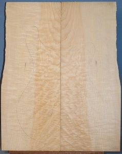 Quilted maple guitar top  number 259 type 'B' medium figure