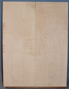 Curly maple guitar top number 281 type 'A' medium figure