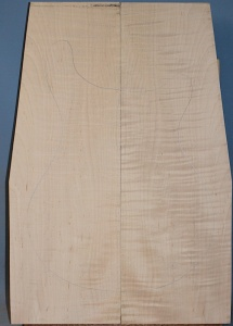 Curly maple guitar top number 284 type 'A' medium figure