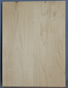 Alder two piece body blank no 2