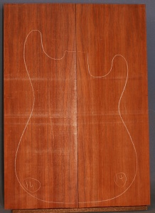 African padauk guitar top type 'B' number 14