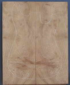 Lacewood guitar top number 47 type 'B'