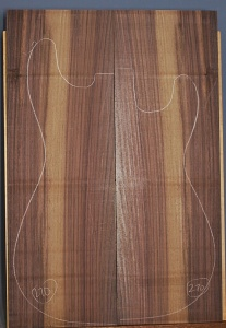 Indian rosewood guitar top number 270 type 'B'