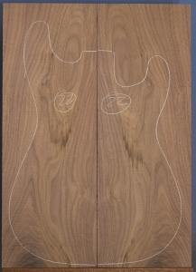 American black walnut guitar top type 'B' number 22