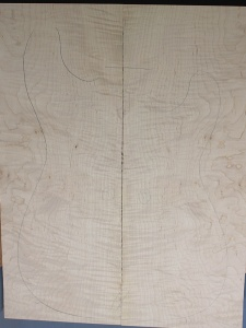 Curly maple guitar top type ' B'  strong figure number 11