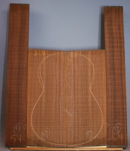 Old stock Indian rosewood guitar set CAAA** number 87
