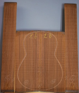 Old stock Indian rosewood guitar set CAAA*** number 35