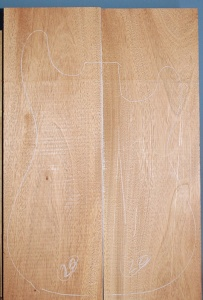 Honduras mahogany two piece body blank no 20