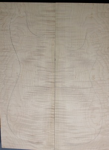 Curly maple guitar top type ' B'  strong figure number 13