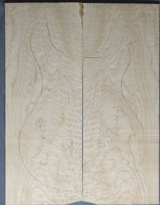 Quilted maple guitar top  number 261 type 'B' medium figure