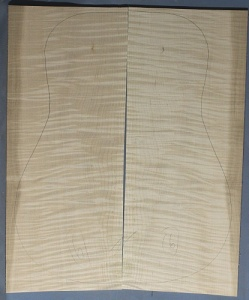 Curly maple back and sides number 6 highest figure