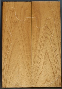 Honduras cedar two piece body blank